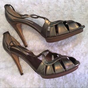 Pura Lopez Dark Silver/Gray High Heel Sandals